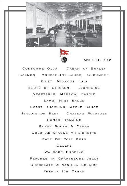 menu titanic1