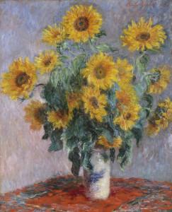Claude Monet (1840-1926) Ramo de Girassóis, 1881 Óleo sobre tela, 101 x 81,3 cm Metropolitan Museum of Art, Nova Iorque. Legado de Mrs. H.O. Havemeyer, 1929