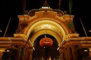 Hovedindgangen ved Hallowen